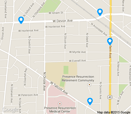 map of Norwood Park West apartments for rent