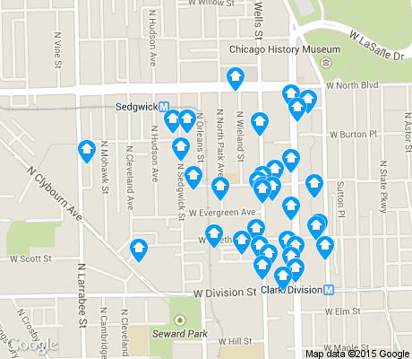 map of Old Town apartments for rent