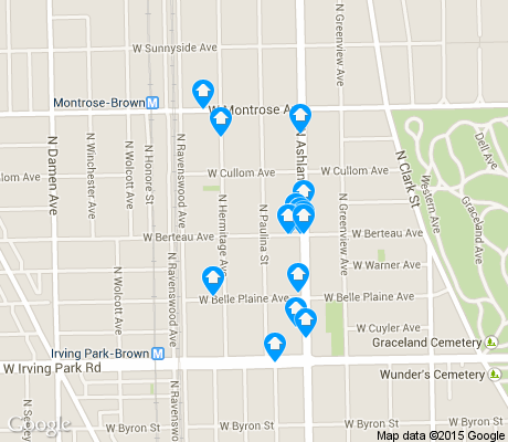 map of South East Ravenswood apartments for rent