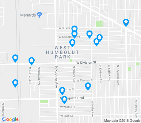 map of West Humboldt Park apartments for rent