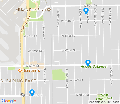 map of West Lawn apartments for rent
