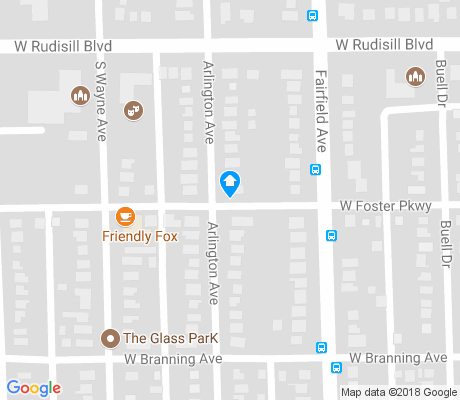 map of Fairmont apartments for rent