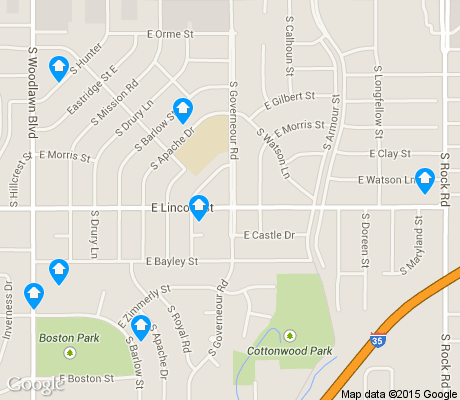 map of Eastridge apartments for rent