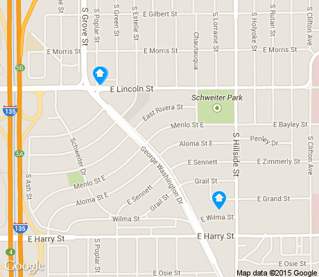 map of Schweiter East apartments for rent