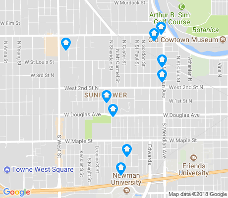 map of Sunflower apartments for rent