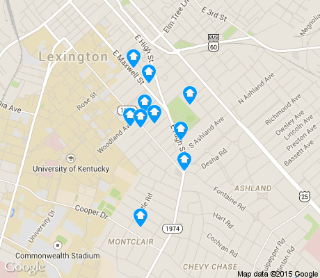 map of Mount Vernon/Hollywood/Montclair apartments for rent