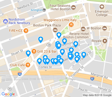 map of Bay Village apartments for rent