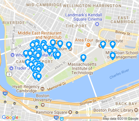 map of MIT apartments for rent