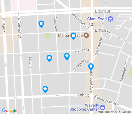 map of Abell apartments for rent
