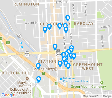 map of Charles North apartments for rent