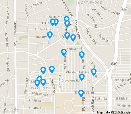 map of Ednor Gardens-Lakeside apartments for rent
