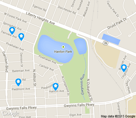 map of Hanlon-Longwood apartments for rent