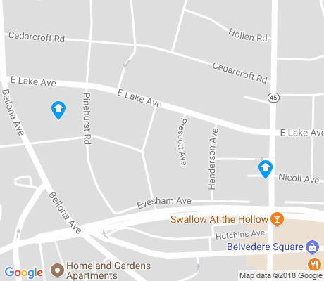 map of Lake Evesham apartments for rent