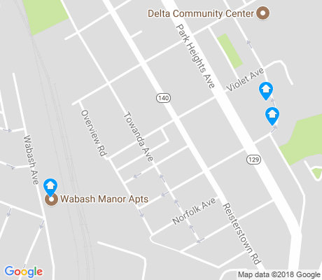 map of Park Circle apartments for rent