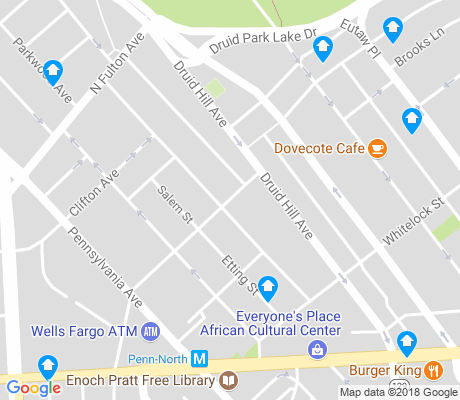 map of Penn North apartments for rent