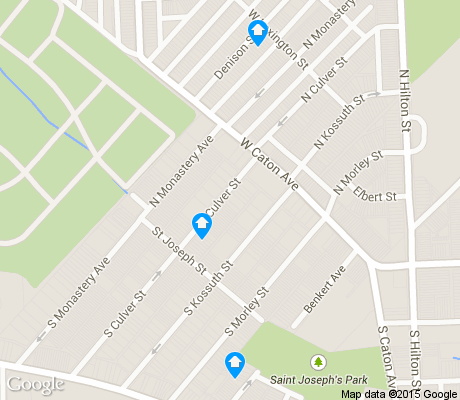 map of Saint Josephs apartments for rent