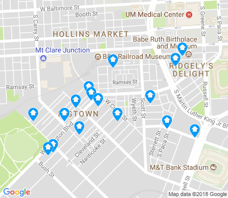 map of Washington Village apartments for rent