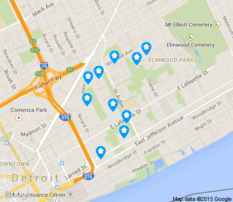 map of Lafayette Park apartments for rent