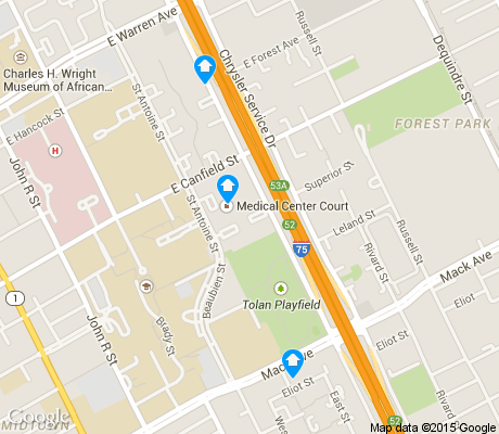 map of Medical Center apartments for rent