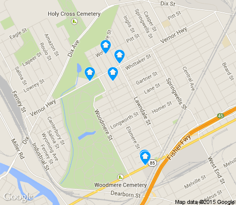 map of Springwells apartments for rent