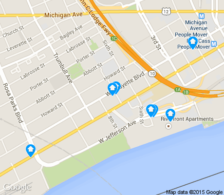 map of West Side Industrial apartments for rent
