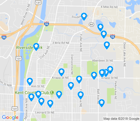 map of Creston apartments for rent