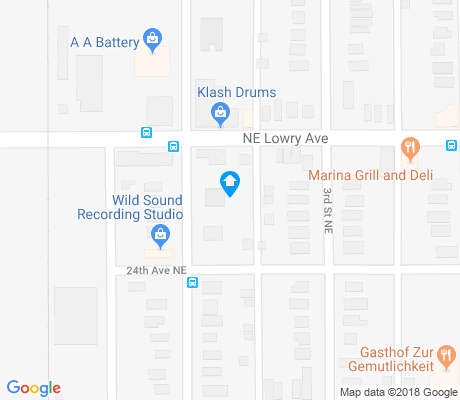 map of Bottineau apartments for rent