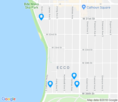 map of East Calhoun apartments for rent
