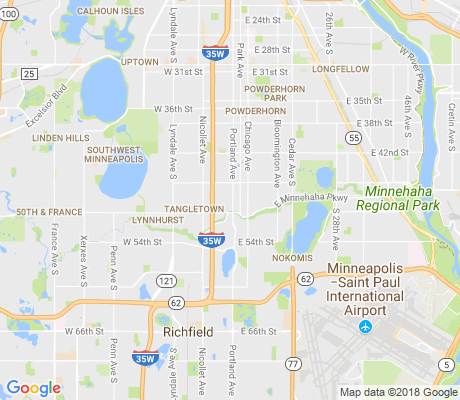 map of Field apartments for rent