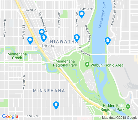 map of Hiawatha apartments for rent