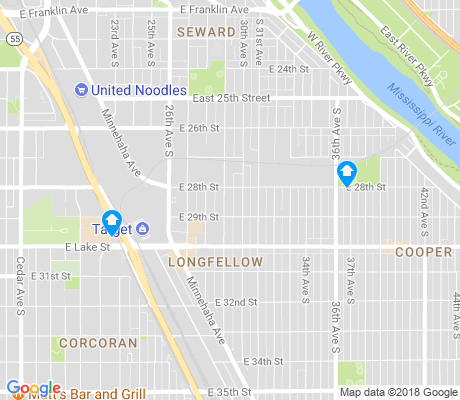 map of Longfellow apartments for rent