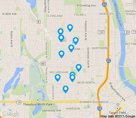 map of Willard Hay apartments for rent
