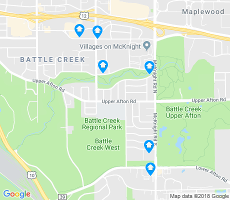 map of Battle Creek apartments for rent