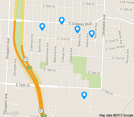 map of Norble and Gregory Ridge apartments for rent