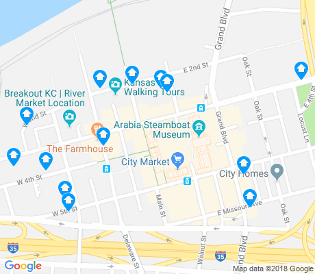 map of River Market apartments for rent
