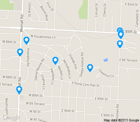 map of Santa Fe Hills apartments for rent