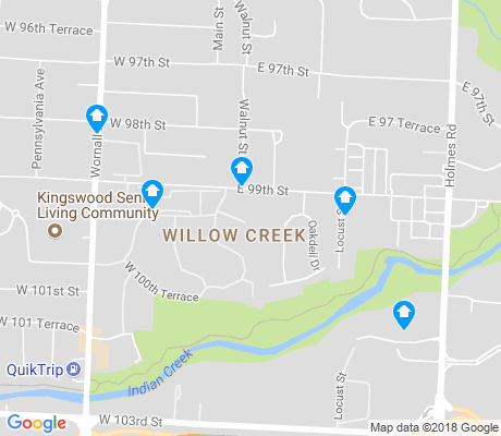 map of Willow Creek apartments for rent