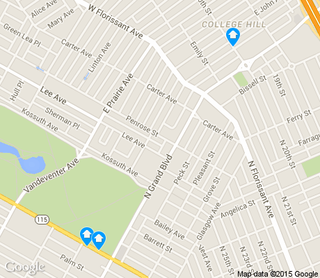 map of Fairground Neighborhood apartments for rent