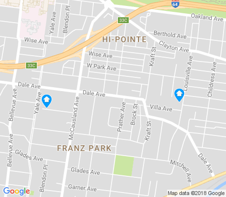 map of Franz Park apartments for rent
