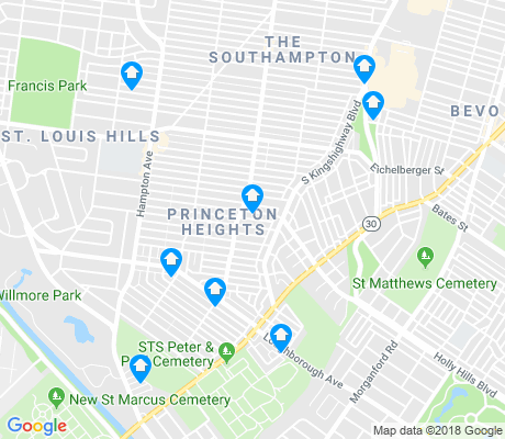 map of Princeton Heights apartments for rent