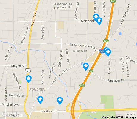 map of Fondren North apartments for rent