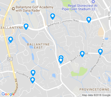 map of Ballantyne East apartments for rent