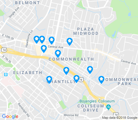 map of Commonwealth apartments for rent