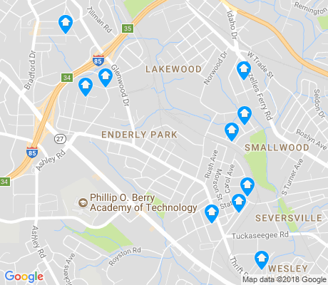 map of Enderly Park apartments for rent