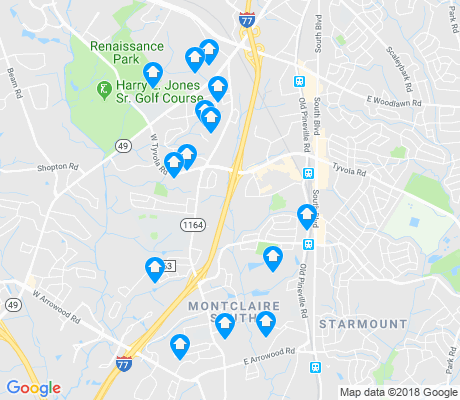 map of Montclaire South apartments for rent
