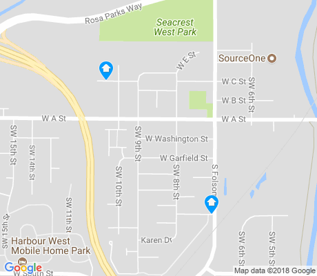 map of West A apartments for rent