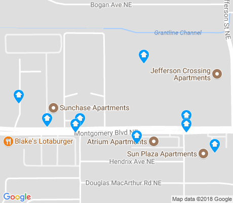 map of Hodgin apartments for rent