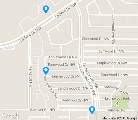 map of Laurelwood apartments for rent