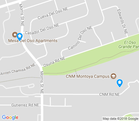 map of Oso Grande apartments for rent