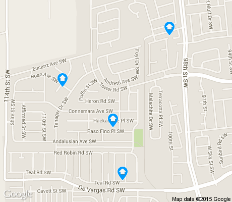 map of Route 66 West apartments for rent